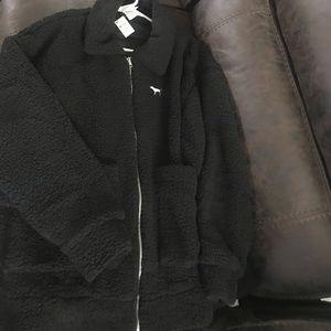 🖤 Victoria's Secret PINK Boyfriend Sherpa Jacket